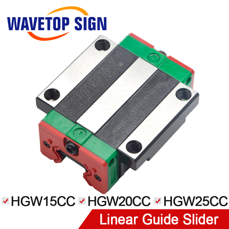 HIWIN slider HGW15CC HGW20CC HGW25CC linear guide use for linear rail CNC diy parts large format printer spare parts wit color mutoh lecai locor xenons block slider qeh20ca linear guide slider 1pc
