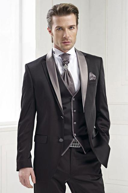 ae2db83622a24 Nowe Custom Made Klasyczny Anglia Styl męskie Smokingi Prom Suits Groomsmen  garnitury Męskie Garnitury Ślubne (