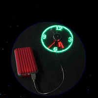 مصغرة led ساعة وقت العرض usb مروحة مروحة حقيقية ل قرص كمبيوتر محمول بنك الطاقة للإزالة مروحة usb أداة الساخن الترويج