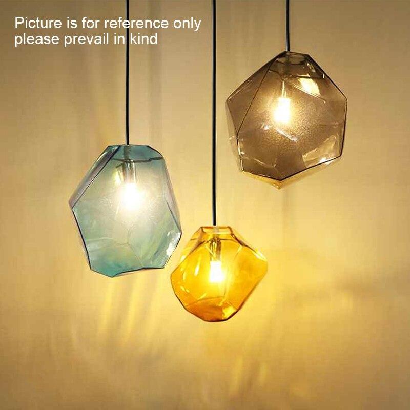 Image 2 - Modern Minimalist Pendant Lights Creative Colorful Glass Pendant Lamps Restaurant LED Lamps Indoor Home Lighting-in Pendant Lights from Lights & Lighting