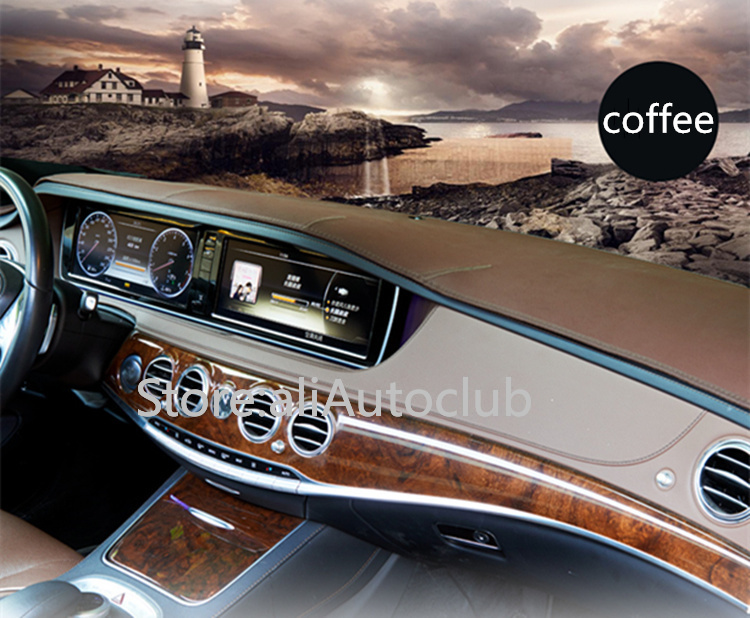 US $45 6 24% OFF|For Audi A8 A8L 2018 2019 2020 Leather Dashmat Dashboard  Cover Dash Mat SunShade Carpet Custom Car Styling accessories LHD+RHD on