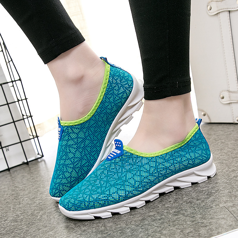 Shoes Woman Platform Loafers Women Sneakers Flat Casual Light Breathable Air Mesh High Quality Spring Summer Autumn Shoes