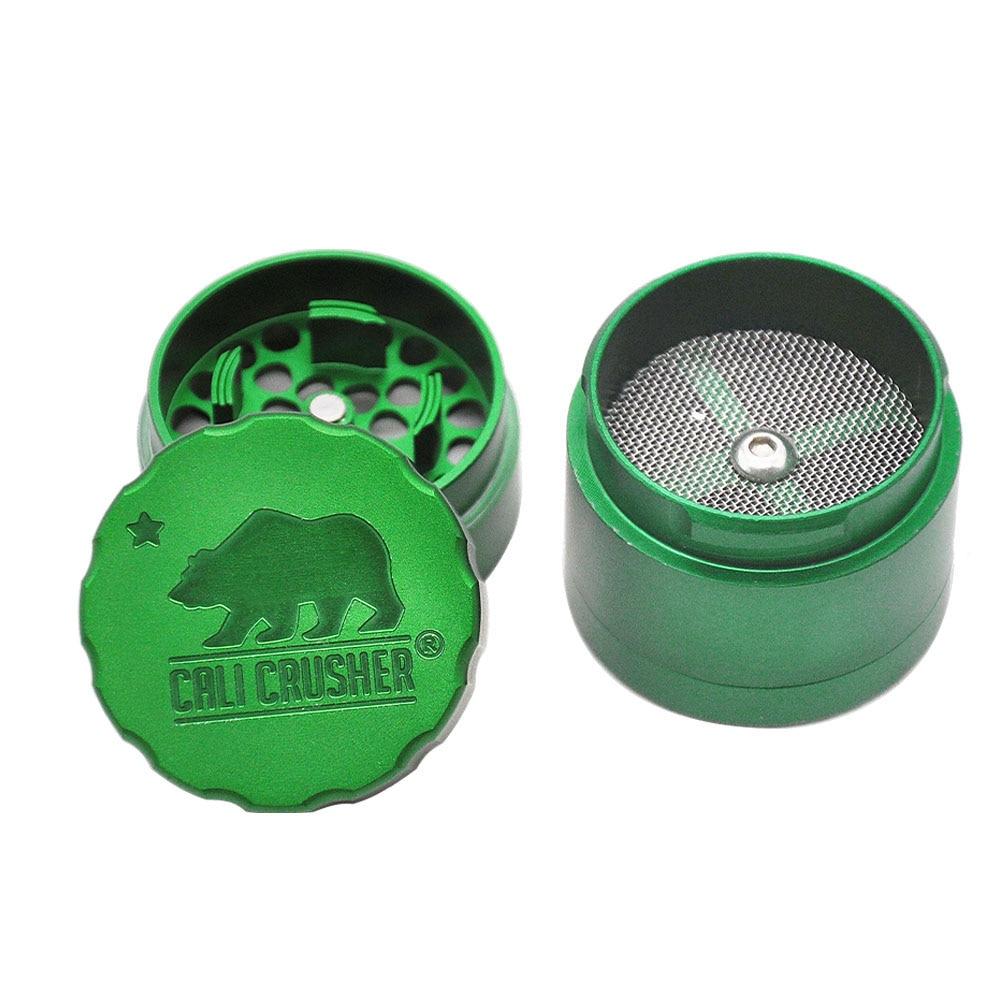 Cali Crusher 2.0 Aluminum Smoking  Grinder Pocket 1.65 Inches 4 Piece Sharp Diamond Teeth Metal Tobacco Herb Grinders