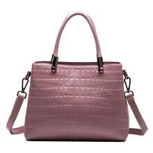 2019 New Women's Genuine Leather Handbag Brand Female Bags Fashion Shoulder Bag Alligator Messenger Bags Ladies Party Handbags