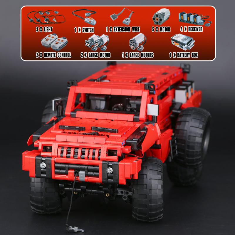 DHL 23007 2278Pcs Technic MOC Motor Car Series The Marauder Set Educational Building Blocks Bricks 4731