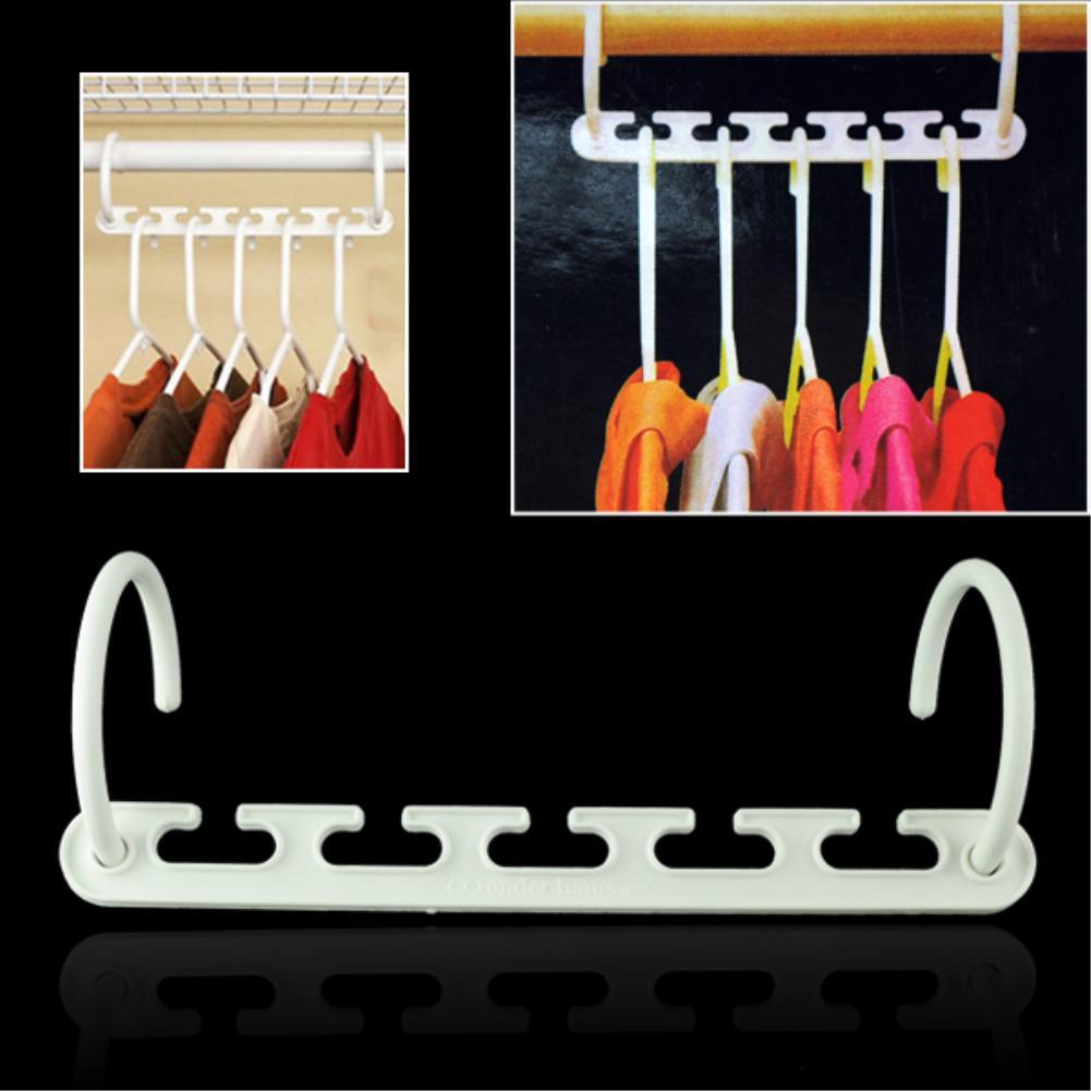 WITUSE 1 2 4 8 pcs Useful Magic Wonder Hanger Closet Space Saver Smart Organizer Clothes Hook Rack