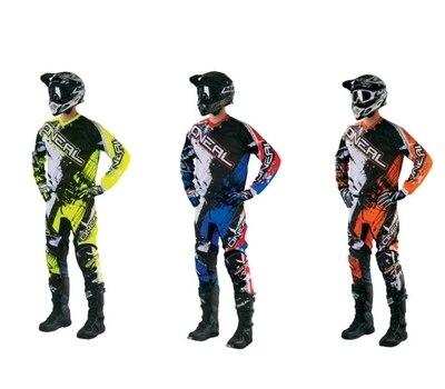 2018 Motocross Hors Route Quad Vélo Enduro À Manches Longues Jersey Pantalon Mx Course Costumes Jersey + Pantalon costumes 3 Couleurs Y