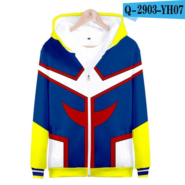 My hero academia hoodies izuku midoriya shouto todoroki boku no hero academia Cosplay Costume Sweatshirt boys girl Zipper Jacket 7
