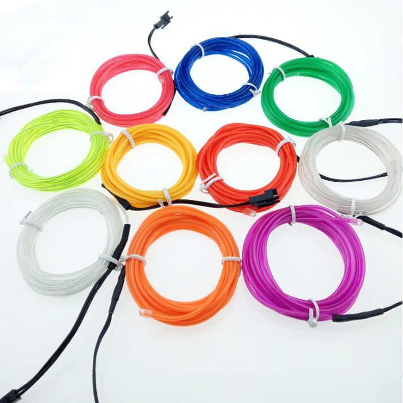 1 м/2 м/3 м/5 м неоновый проводной Контролер светодиодной полосы 3 в гибкий изолента кабель водонепроницаемая обувь одежда автомобиля светодиодные полосы света