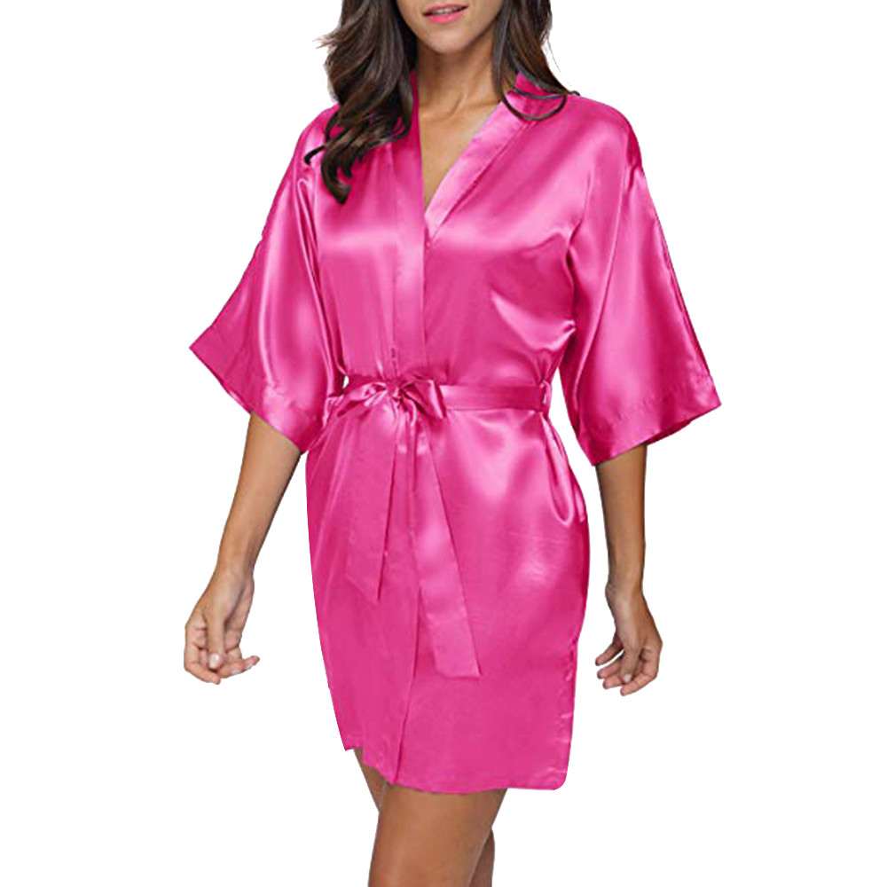 Women's Sleepwear Nightgowns Sexy Satin Set Bandage Lace Bodydoll Pyjamas Mini Dress Belt bayan gecelik baju tidur
