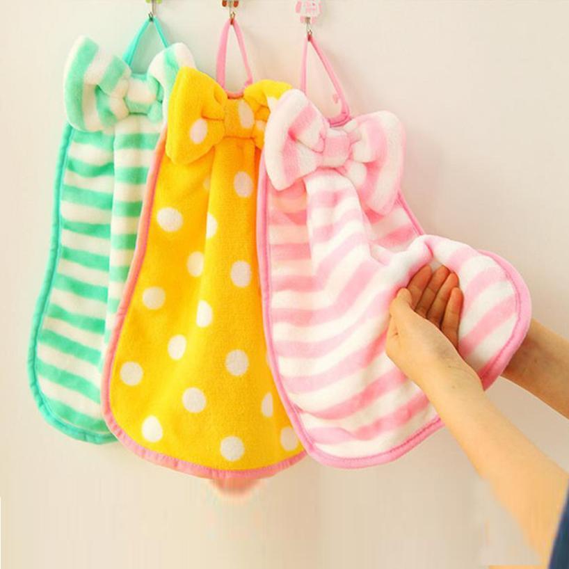 New Qualified Dropship Cartoon Children Nursery Hand Towel Soft Plush Bow Animal Hanging Wipe Bathing Towel D48SE7A