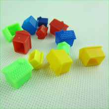 20 Pieces Chess Board Game Pieces Supplies Four Colors Plastic Refill Props House for Monopoly Game
