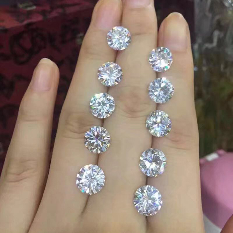 US $439 99 12% OFF|STARYEE Positive Testing Real Charles Colvard Forever  One 1 1CT 7mm VS GHI Perfect Cut Loose Moissanite Diamonds With  Ceriticate-in