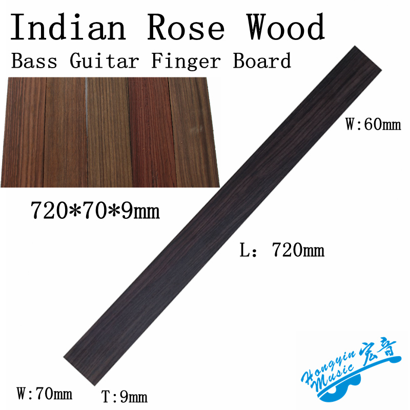 Guitar Parts & Accessories Musical Instruments Persevering Guitar Accessories Indian Rosewood For Electric Bass Electric Guitar Fingerboard Guitarra Making Materials 720*70/60*9mm Aromatic Character And Agreeable Taste