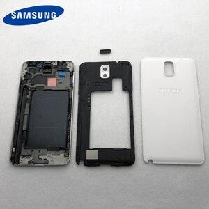 Image 3 - Samsung Galaxy Note 3 Için tam Konut Parçaları N900 N9005 N9006 Ön LCD Çerçeve arka kapak note3 Arka Pil Kapağı Orta çerçeve