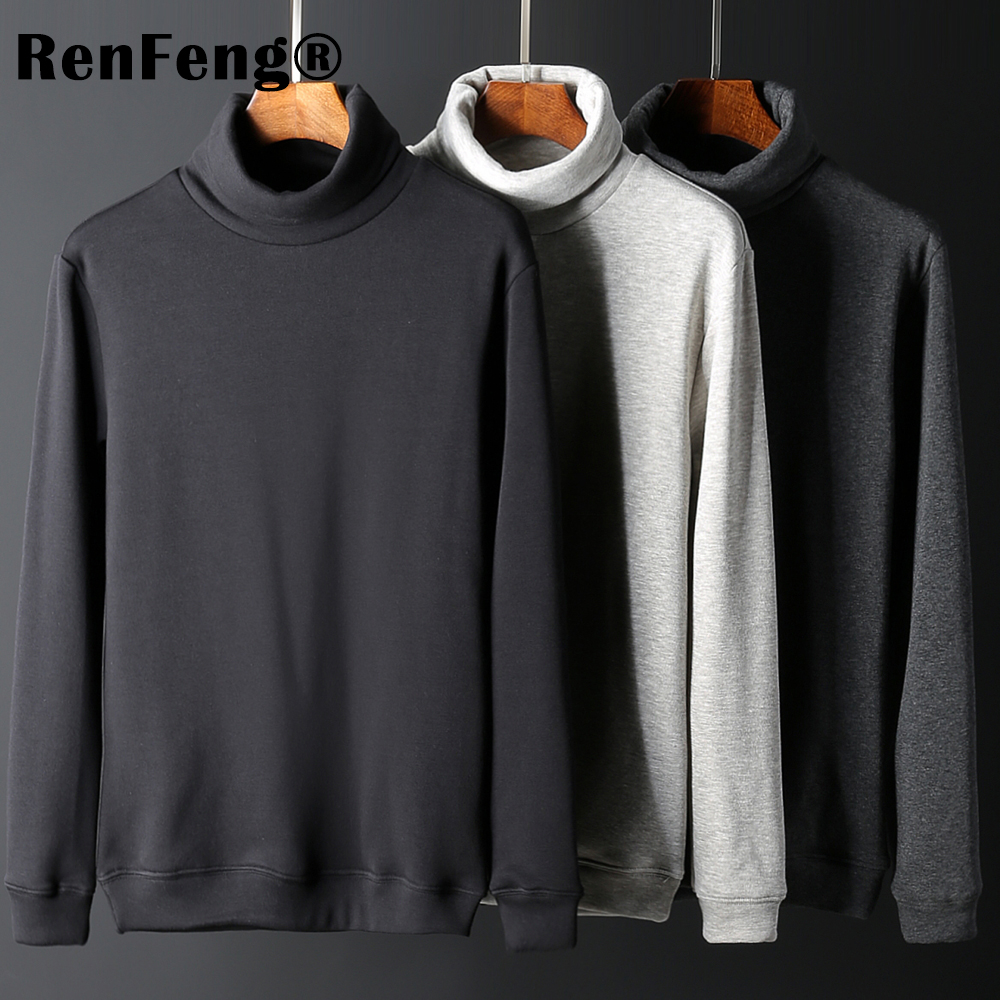 Men's Fashion Winter Men Slim thermo Long Sleeve T shirt Thicken Flannel Thermal Underwear Basic Tops Turtleneck Undershirt Male (10)
