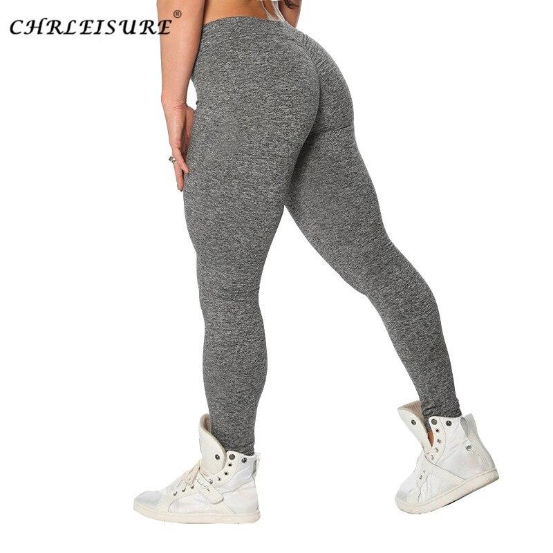 CHRLEISURE mujer Fitness polainas en forma de V Legging mosaico polainas Fitness damas Pantalones Slim entrenamiento Jeggings