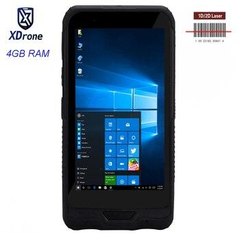"2019 original PDA Windows Barcode Scanner Mobile Tablet Mini PC  6"" 4GB RAM USB IP67 Rugged Waterproof GPS 2D Scanner Android"