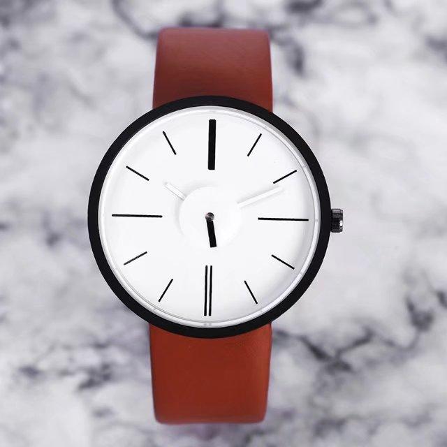 Hot fashion creative watches women men quartz-watch 2017 New brand unique dial design lovers watch leather wristwatches clock