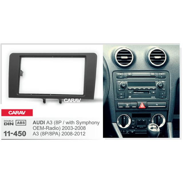 Double Din Fascia For Audi A3 8p With Symphony Oem Radio Radio