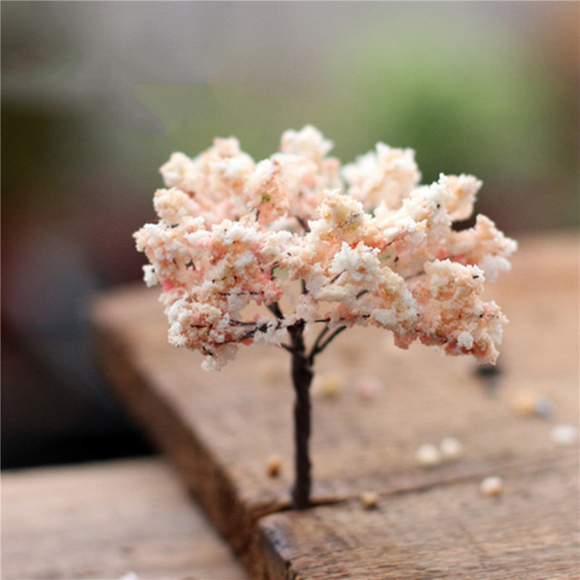 1PC Mini Tree Artificial Garden Miniature Resin Craft Home Decoration Micro Landscape Bonsai Plant 4