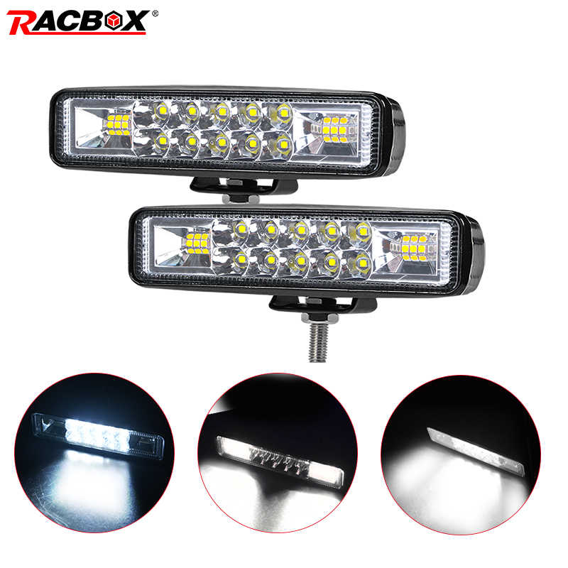 6inch 18W 12V Spotlight Driving Offroad WorkLights Headlight LED Fog Lights Lamp For Truck Cars ATV Auto Motorcycle SUV 4WD Beam