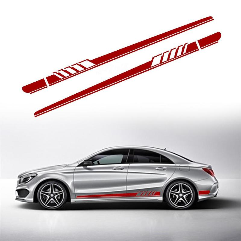 2pcs Car Styling Auto Side Body Vinyl Decals Racing Sports Long Stripe Stickers DIY Car Body Decals for Mercedes-Benz 220x11.5CM носки nike elite running cushion qtr sx4850 010