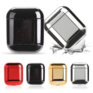 Luxury Gold Protective Cases For Apple Airpods Electroplated PC Earphone Case Cover Anti-fall Box For Airpods 2 1 Accessories(China)