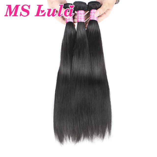 Envío Libre MS lula pelo malasio de la virgen cabello liso barato human hair 3 unids mucho cutícula llena alineados venta caliente