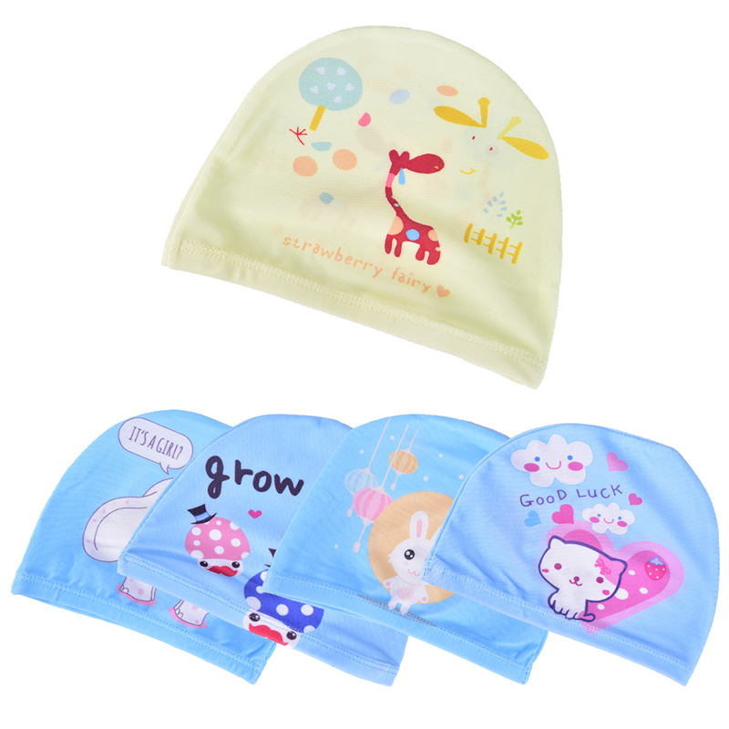 Elastic Fabric Cute Cartoon Printed Swimming Caps For Long Hair Lovely Kids Cartoon Protect Ears Swim Pool Hat For Boys Girls Complete In Specifications