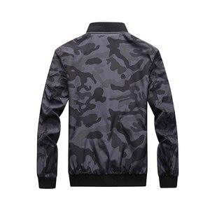 Image 3 - Esercito Giacca Mimetica Uomini Casual Bomber Giubbotti Mens Zipper Outwear Giacca di Autunno della Molla Sottile Cappotto Uomo Più Il Formato 7XL formato