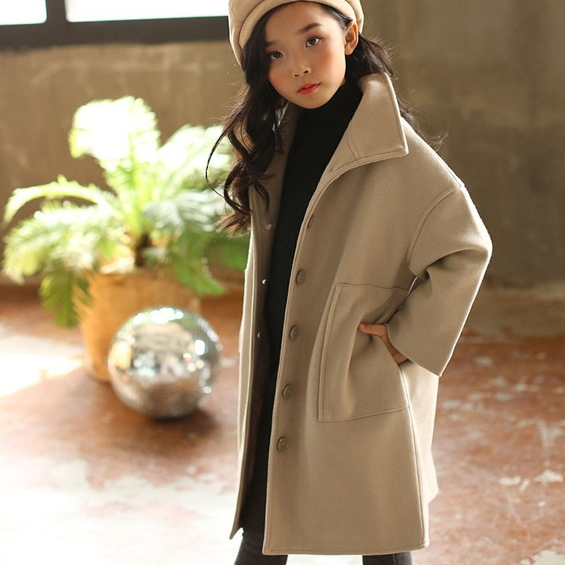 special promotion good looking fashionable and attractive package Teenage Girls Wool Coat Kids Overcoat Cotton Padded Children's Winter  Jackets Christmas Autumn Mother And Daughter Clothing 2019