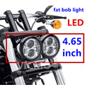 "5"" fat bob headlight double Headlamp Motorcycle Projector Daymaker LED Light Bulb H4 For Harley Fat Bob LED lamp  4X4"