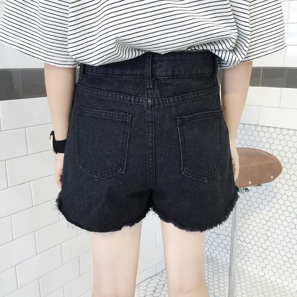Japon Tarzı Yaz Kadın Denim Şort 2019 Yeni Kore Yüksek Bel Kot - Bayan Giyimi - Fotoğraf 4
