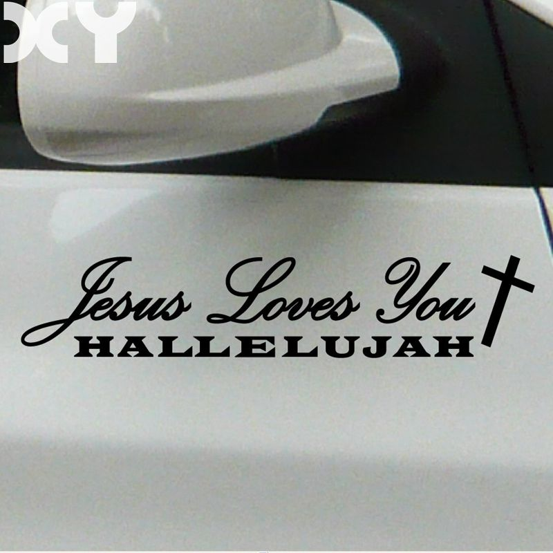 Jesus Hallelujah High Quality Reflective Tape Waterproof Car Stickers and Decals for Rear Windshield Car Tail and So On