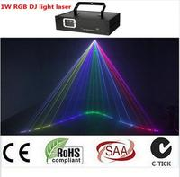 1000mw rgb Full color animation projector 1w DJ light laser rgb laser dj lights dmx beam light multi color