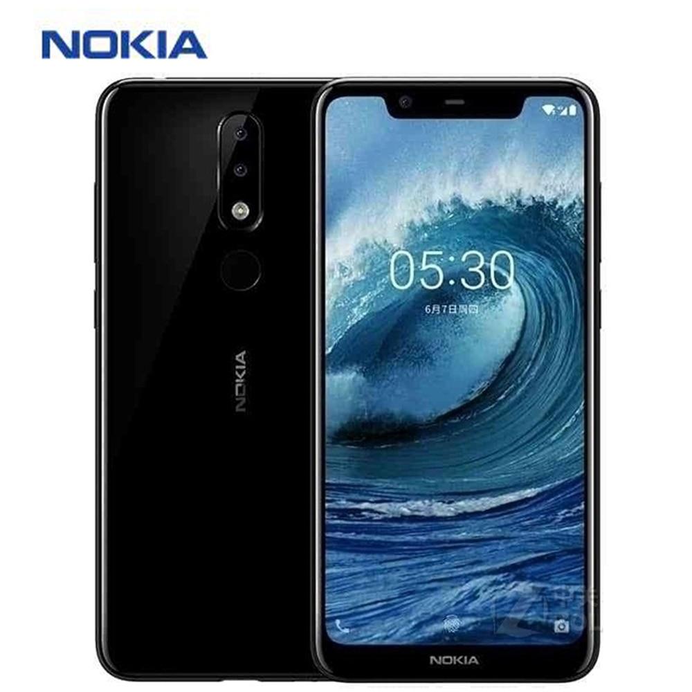 "New Nokia X5 Mobile Phone 4G LTE 5.86"" Octa Core 3GB RAM 32GB ROM 13MP+5MP Dual Rear Camera Fingerprint Android 8.1 SmartPhone"