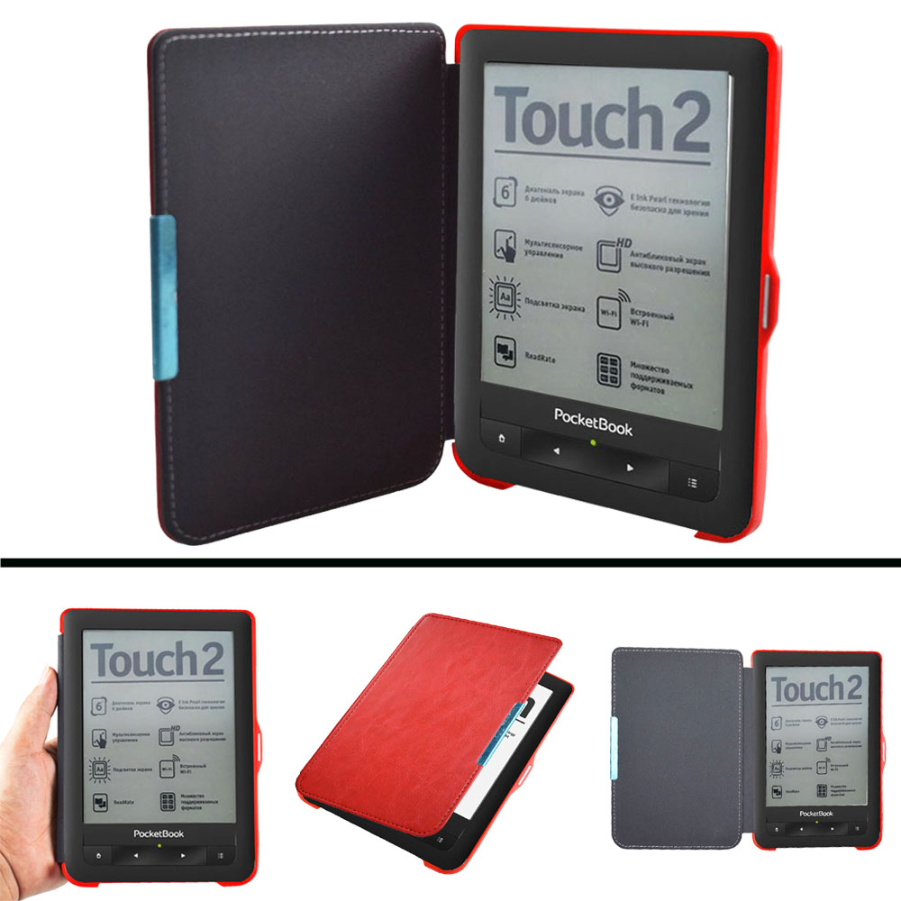 PB 622 623 Erweiterte pu Ledertasche für Pocketbook 622 623 Touch 1 2 eReader Flip folio bucheinband magnet closured fall