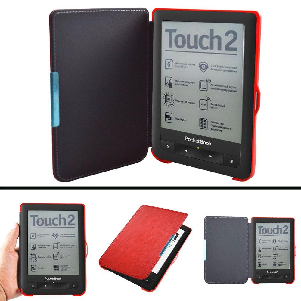 PB 622 623 Advanced pu Funda de cuero para el cuaderno 622 623 Touch 1 2 eReader Flip folio cubierta de libro imán cerrado caso