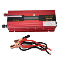 BORUiT Solar Power Car Inverter DC 12V To AC 110V Transformer Converter 2000W Charger Display Vehicle