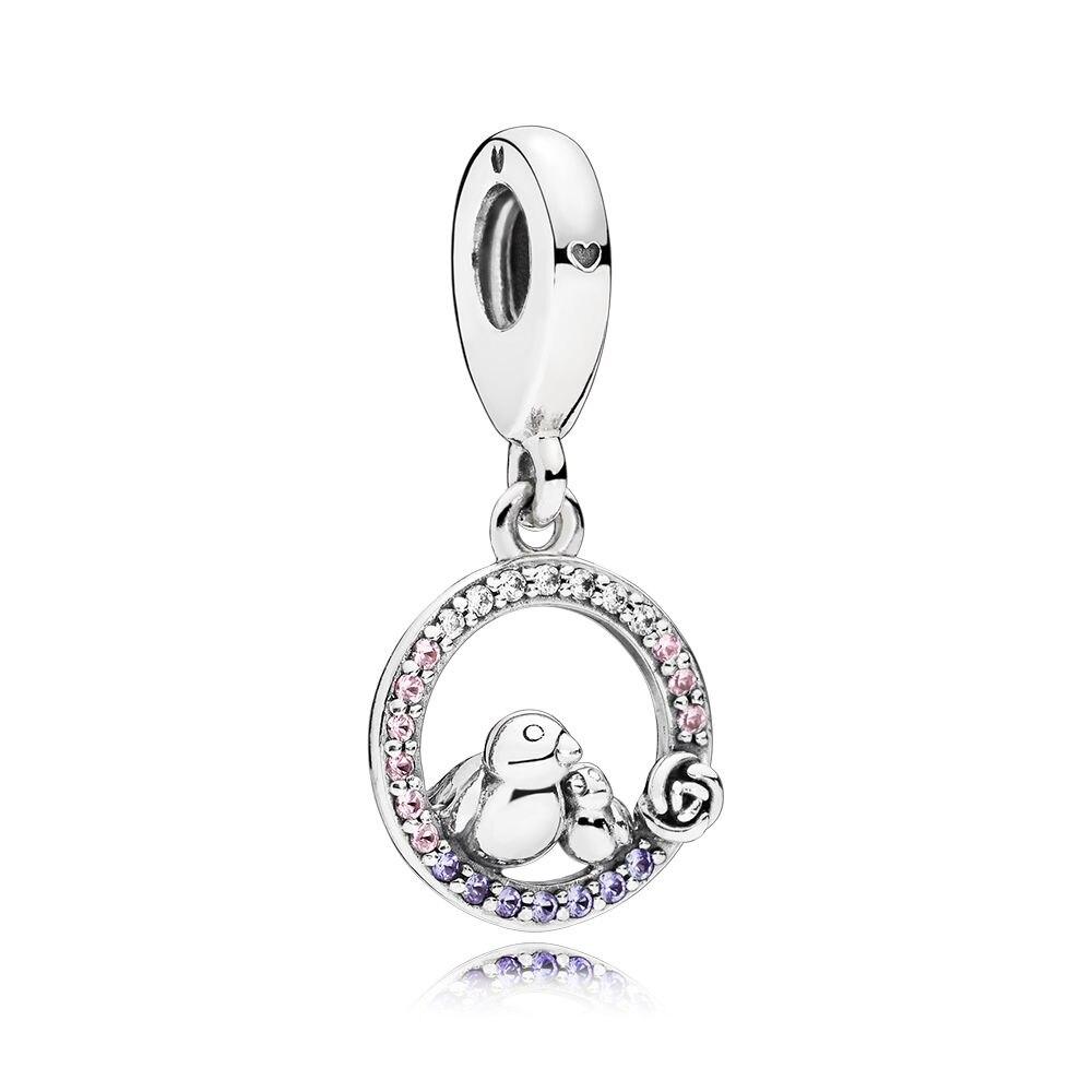 Cosen 100% 925 Sterling Silber 1:1 Original 797060 Nprmx Mutter & Baby Vogel Anhänger Charme Trend Persönlichkeit Romantische Schmuck