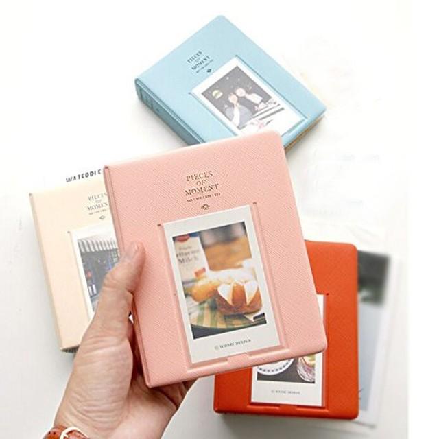 64 bolsos De Armazenamento Caso Para Fujifilm Polaroid Álbum de fotos Mini Imagem Instantânea Instax Mini Film 8 Korea Instax Álbum Fotografia