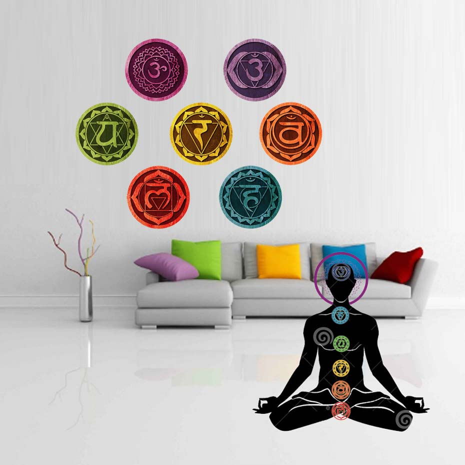 Download Wallpaper Marble Mandala - 18cm-pcs-7-Piece-Chakras-Mandala-Yoga-Stickers-Om-Meditation-Symbol-Decal-Chakra-Removable-PVC-Wallpaper  Image_603088.jpg