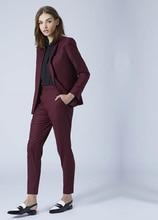цена Custom Made new Women Business Suits Double Breasted Female Office Uniform Ladies Formal Trouser Suit Flesh Pink 2 Piece Set в интернет-магазинах