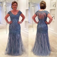 Mother Of The Bride Dress Lace 2019 Wedding Party Gowns Vestido De Madrinha Robe Mere De Mariee