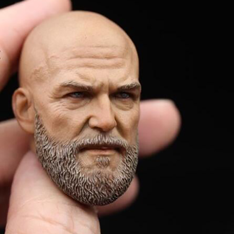 Custom Iron Monger Bearded Headplay 1/6 Head Sculpt for Hot Toys Jeff Bridges Muscular Man Body Fit 12 Inch Phicen Action Figure mak custom 1 6 scale hugh jackman head sculpt wolverine male headplay model fit 12kumik body figures