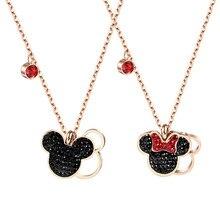 Дисней детский манеж мультфильм Микки Маус леди Кукольное ожерелье женский подарок одежда аксессуары кулон ювелирные изделия