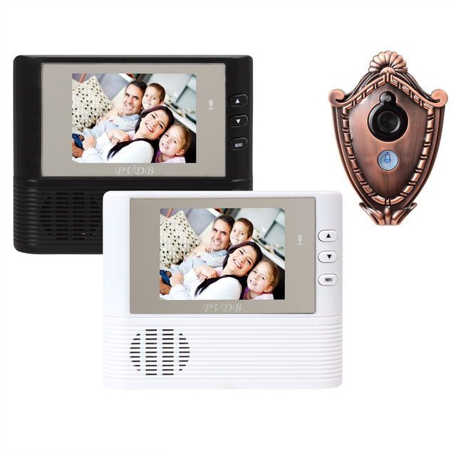 2pcs/lot Ultra-thin 2.8 Inch LCD Screen Door Bell Viewer Digital Monitor Peephole Security Cam Camera with Night Vision Video