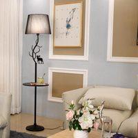 Modern White Fabric Lampshade Floor Lamp For Living Room Loft Standing Lamps Decor Home Lighting Fixtrue Black Iron E27 110 240V