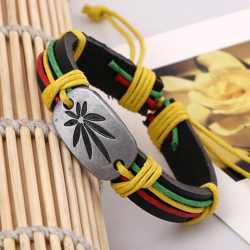 Popular Rasta Hemp Cord Handmade Braided Rope Leat...